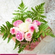 Bouguet pink and green