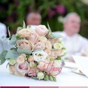 Bouquet light pink and green2