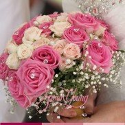 Bouquet pink with diamonds4