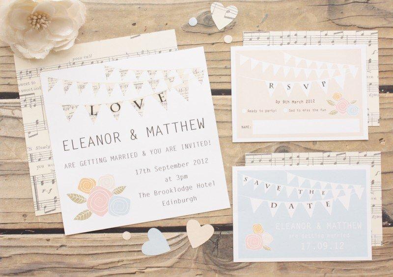 Bunting-Love-Wedding-Invitation-Set
