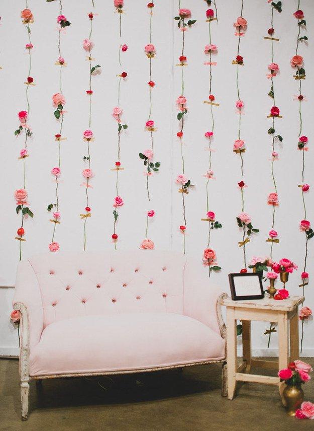 fresh flower wall